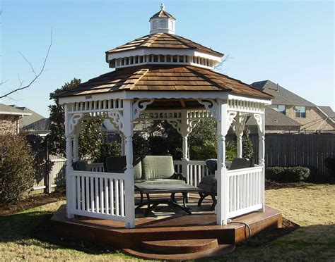 pvc gazebo vinyl roof octagon gazebos gazebos by material