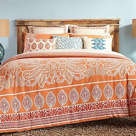 coral king bedding trina turk 174 catalina paisley comforter set in coral bed