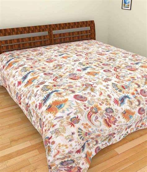 printed bed sheets jaipur textile hub multicolour printed cotton double bed