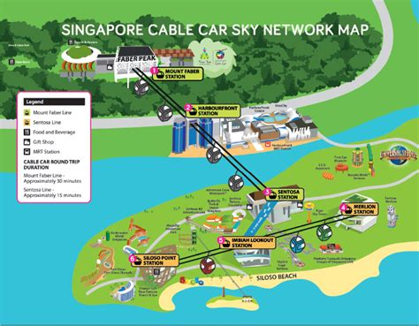 cable car map singapore business guide singapore cable car