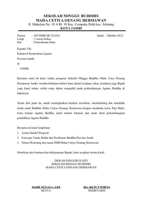 contoh surat permohonan bantuan pembangunan masjid