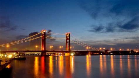 trotoar jembatan ampera palembang bakal disulap jadi