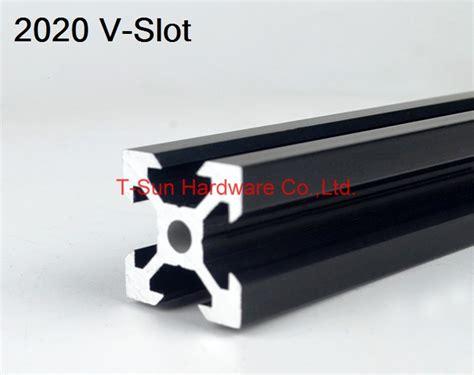 V Slot Aluminium Profile Extrusion Rail 2020 Black Ox Cnc Frame 100cm 1 v slot black aluminum profile aluminum extrusion profile 2020 20 20 in aluminum profiles from
