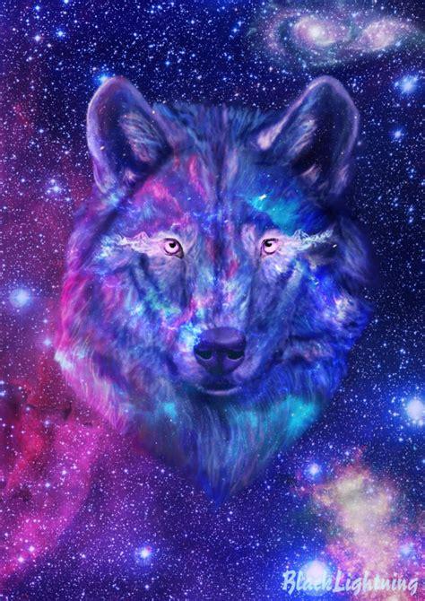 wallpaper galaxy wolf galaxy wolf by blacklightning95 on deviantart