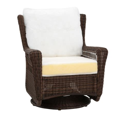 Hton Bay Swivel Patio Chairs Wicker by Hton Bay Park Brown Custom Swivel Rocking