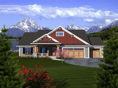 Ranch Style Home Plans With 3 Car Garage by Craftsman Ranch House Plans With 3 Car Garage Rustic
