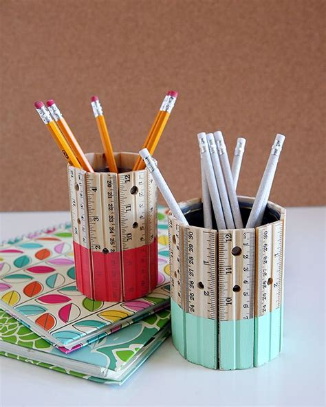 Awesome Small Office Christmas Gifts #2: 9-diy-ruler-pencil-holder.jpg