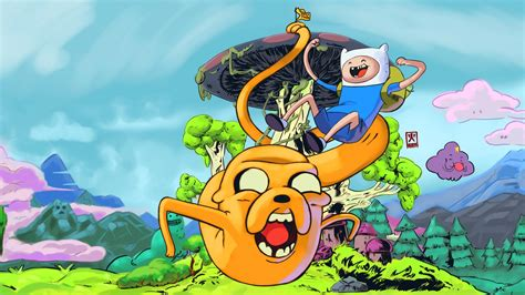 Adventure Time With Finn And Jake Sky Flying Forest Iphone adventure time wallpaper 1366x768 impremedia net