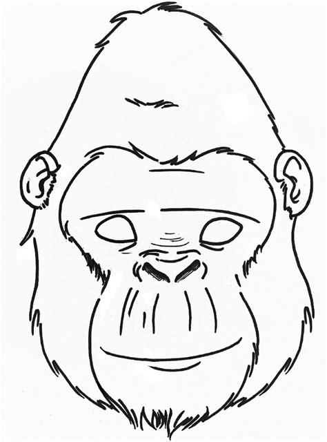 gorilla coloring page to print gorilla mask craft google search preschool activities