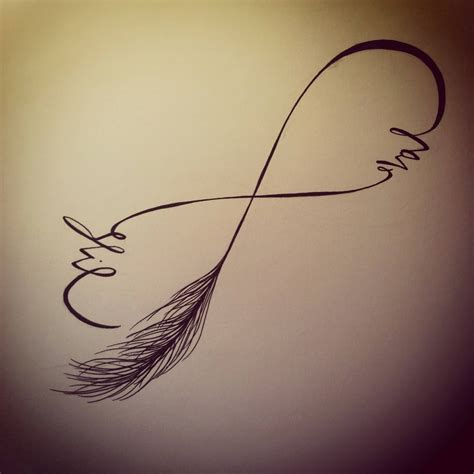 tattoo infinity love life feather stencil of nice infinity love life tattoo