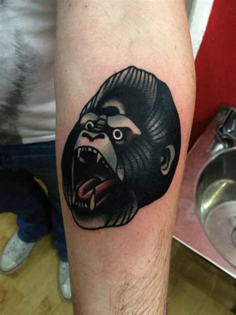 jason ellis head tattoo 18 eye catching gorilla tattoos tattoodo