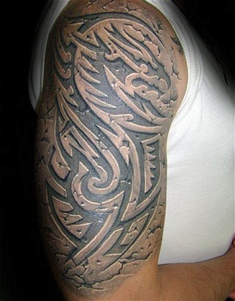 tattoo 3d tribal 60 3d tribal tattoos for masculine design ideas