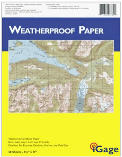 How To Make Paper Water Proof - weatherproof paper by igage waterproof resists tears