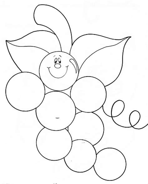 preschool grapes coloring page fruit coloring pages and printables crafts and