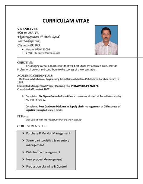 Vendor Development Manager Resume kandavel purchase vendor development manager resume