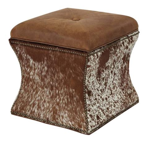western ottomans speckled hair storage ottoman western ottomans free