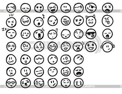 doodle emoticon designtnt vector doodle emoticons stock vector graphics