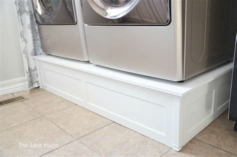 washer and dryer pedestal reveal shanty 2 chic diy home projects the idea room