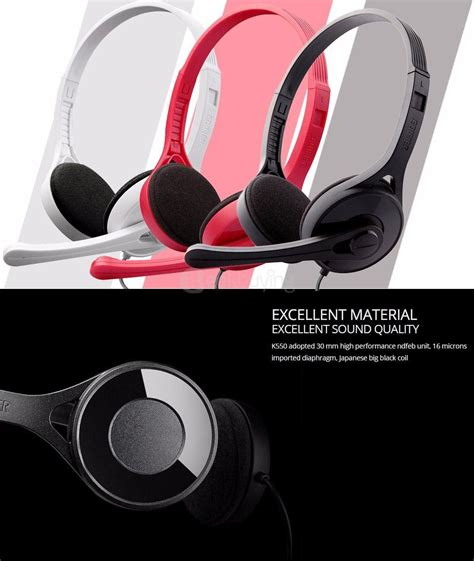 Edifier M815 High Quality Headset For Phones Laptops And Consoles edifier k550 headset headphones