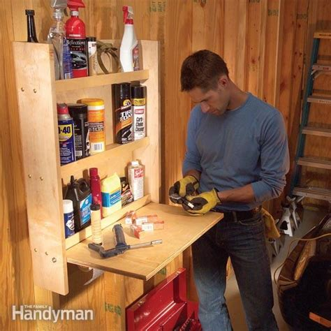 handyman garage organization storing and organizing car care products the family handyman