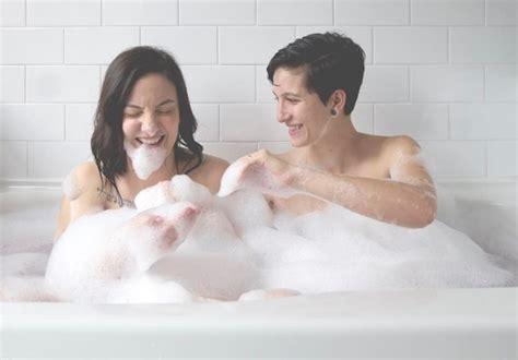 lesbians in a bathroom lush cosmetics lgbtq inclusive valentine s day caign