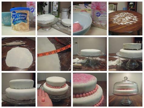 basic cake make decorating with fondant for