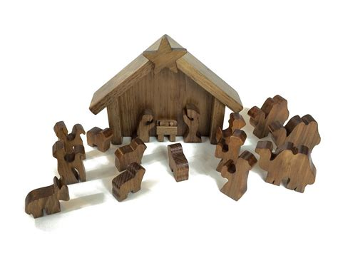 nativity sets in lancaster pa amish made 14 wooden nativity manger set amishtoybox