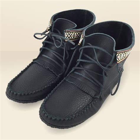 mens moccasin boot s black leather moccasin boots with crepe sole