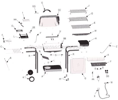 char broil parts diagram char broil 461740404 parts list and diagram