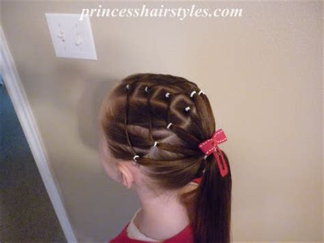 easy hairstyles with rubber bands four square elastic hairstyle hairstyles for girls