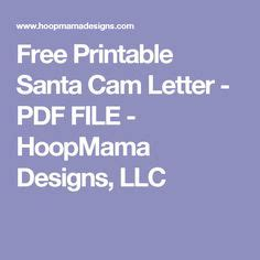 printable santa cam letter  file machine