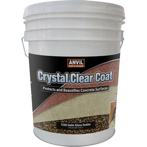 Clear Acrylic Sealer anvil 5 gal clear coat satin gloss waterproofer