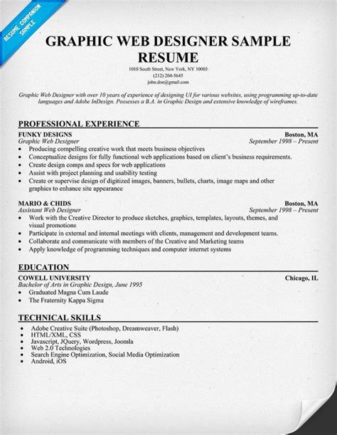 web designer resume simple resume format website sample resume