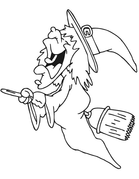witch broomstick coloring page witch coloring pages free printables for kids