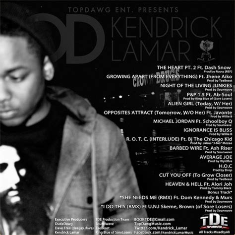 Section 80 Kendrick Lamar Tracklist by Overly Dedicated Free