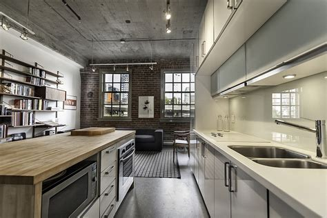 Kitchen Island Vancouver historic loft brings together rich heritage and