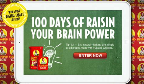 Sun Maid Sweepstakes - sun maid 100 days of tablets sweepstakes