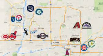 map of ballparks in arizona a driver s guide to arizona bleed cubbie