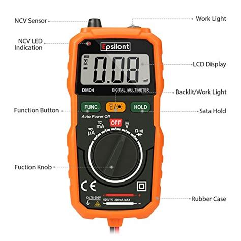 epsilont auto ranging digital multimeter and voltage