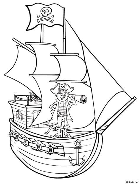 dessin facile bateau pirate coloriage le bateau pirate tipirate
