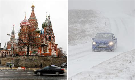 moscow russia weather uk weather warning snow on way tonight as britain colder