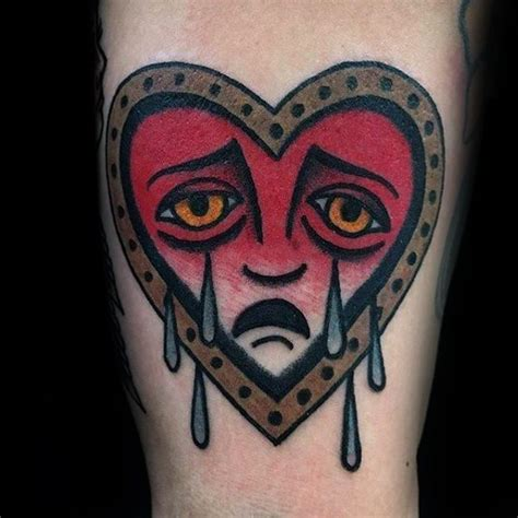 crying heart tattoo designs 50 designs for cool ink ideas
