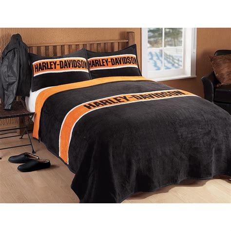 harley davidson bed harley davidson 174 striped bed blanket 131579 blankets