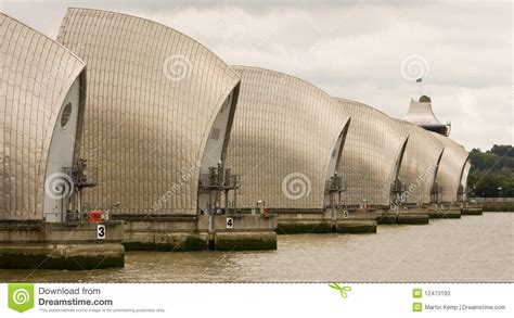 thames barrier housing compressed perspective view of the thames barrier stock