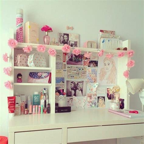 Study Decor Amazing Bedroom Cute Desk Floral Flowers Ikea