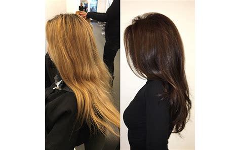transformation tuesdays natural hair bride youtube transformation tuesday bleached blonde to glossy brunette