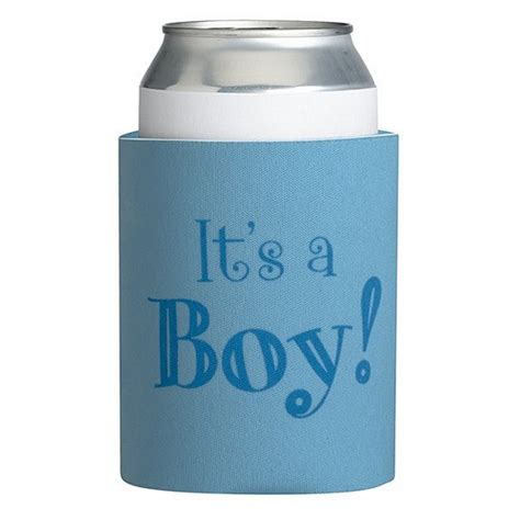 it s a boy baby shower can koozies