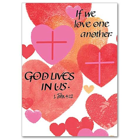 religious valentines if we one another s day card