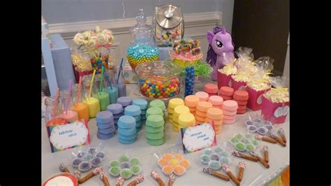 pony parties make a great birthday treat for kids my little pony party decorating ideas youtube