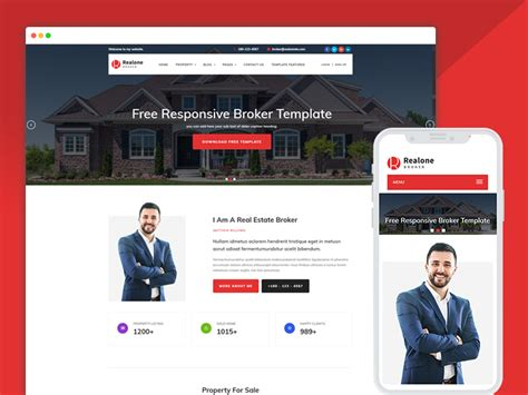 Best Bootstrap Responsive Web Design Templates 40 Ease Template Real Estate Responsive Website Templates Free